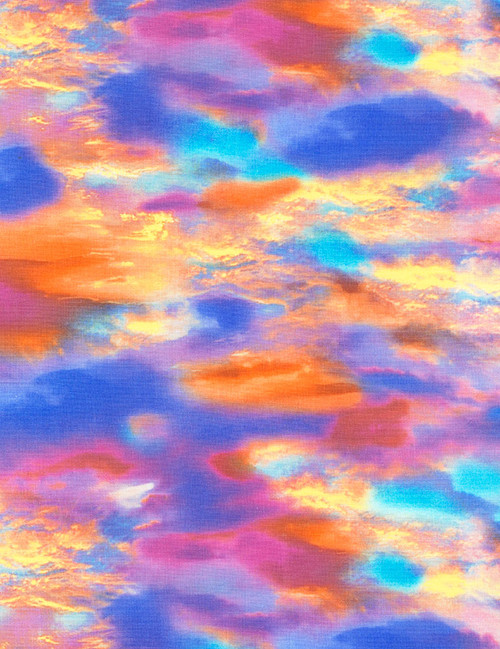 Cotton Print Yarmulkes Sunset Sky - Nature