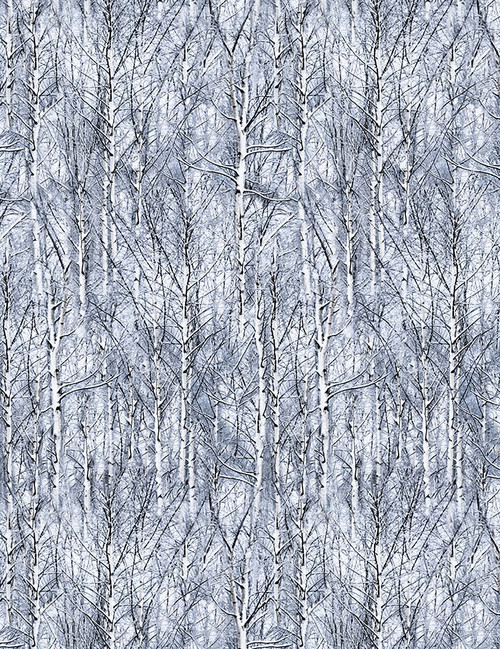 Cotton Print Yarmulkes Icy Trees - FROST