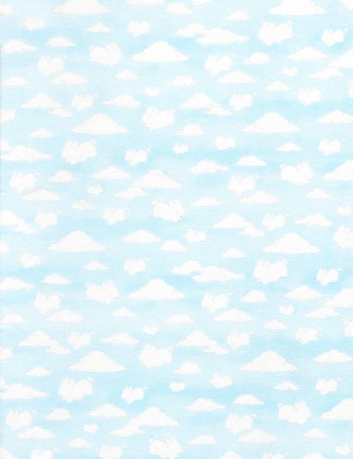 Cotton Print Yarmulkes Cloud Animals - SKY
