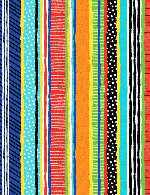 Cotton Print Yarmulkes Stripe Gail - MULTI
