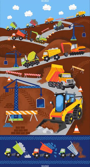 "Cotton Print Yarmulkes 24"" Construction Panel - MULTI"