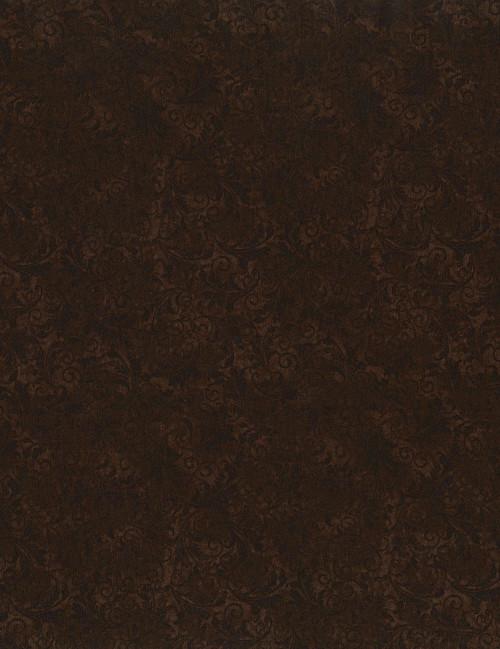 Cotton Print Yarmulkes Tonal Filigree - BROWN