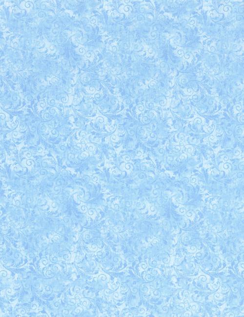 Cotton Print Yarmulkes Tonal Filigree - POWDER