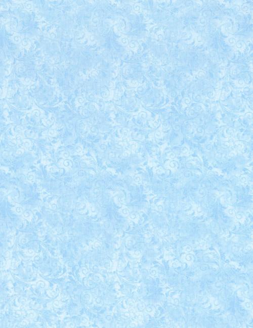 Cotton Print Yarmulkes Tonal Filigree - CLOUD