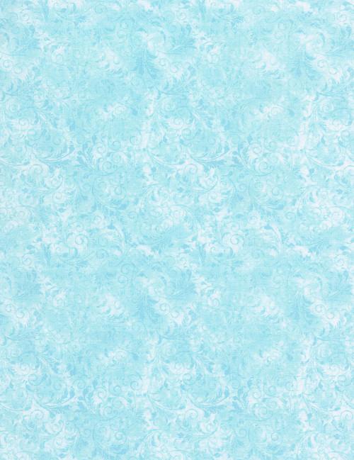 Cotton Print Yarmulkes Tonal Filigree - ARCTIC