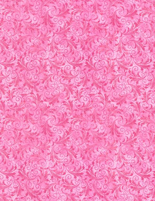 Cotton Print Yarmulkes Tonal Filigree - BUBBLEGUM