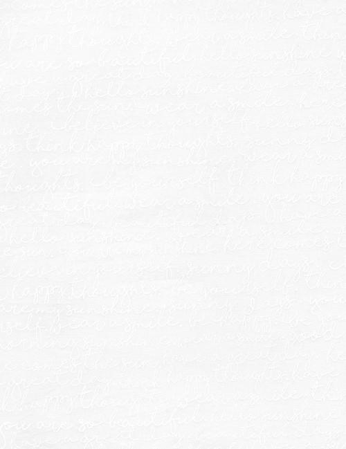 Cotton Print Yarmulkes Script - WHITE