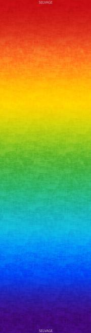 Cotton Print Yarmulkes Rainbow Gradation - MULTI
