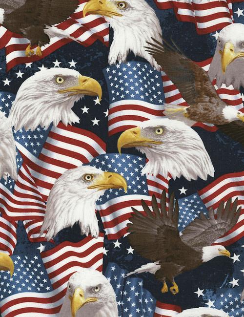 Cotton Print Yarmulkes Eagles - EAGLES
