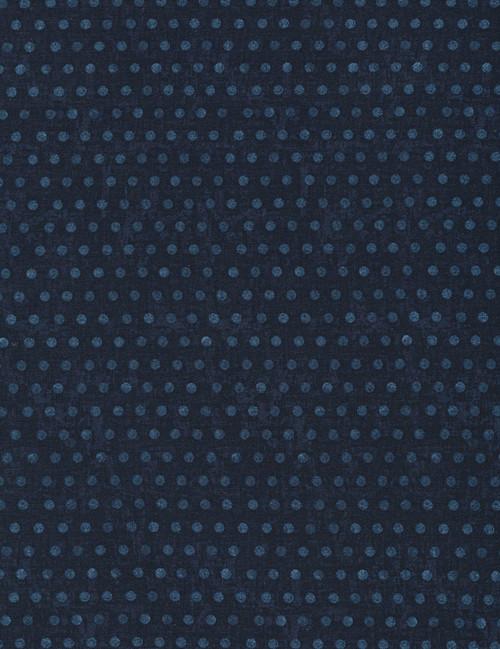 Cotton Print Yarmulkes Dots - NAVY
