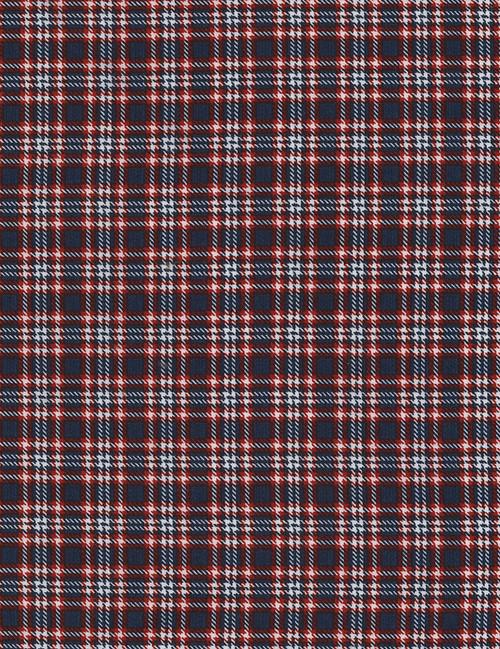 Cotton Print Yarmulkes Small Plaid - NAVY