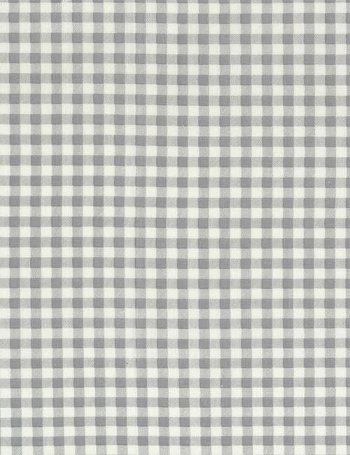 Cotton Print Yarmulkes Plaid Checks - GREY