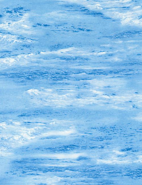 Cotton Print Yarmulkes Water - WATER