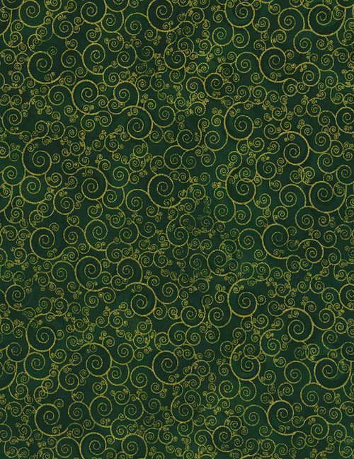 Cotton Print Yarmulkes Scroll - GREEN