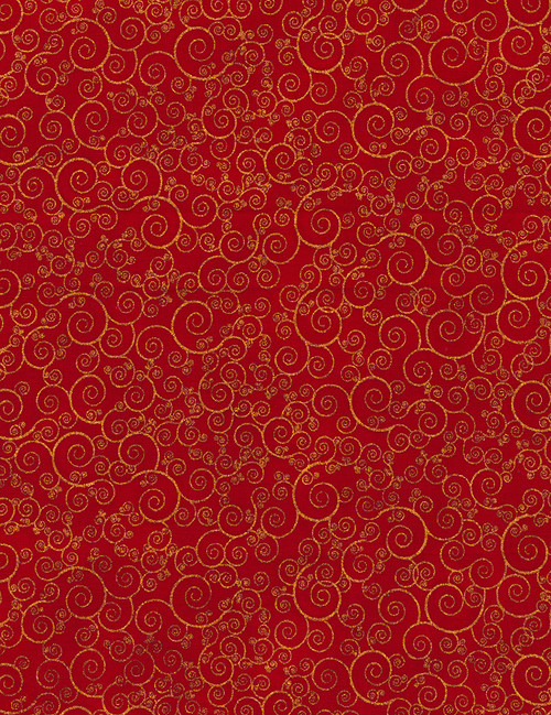 Cotton Print Yarmulkes Scroll - RED