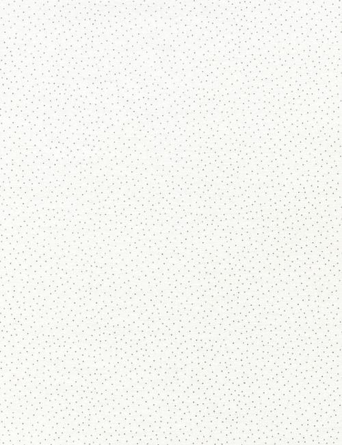 Cotton Print Yarmulkes Metallic Pin Dots - WHITE