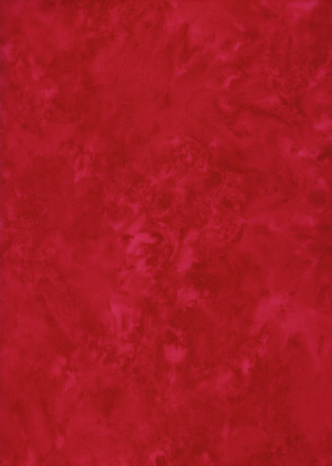 Cotton Print Yarmulkes Tonga Java Blender Batik - RED