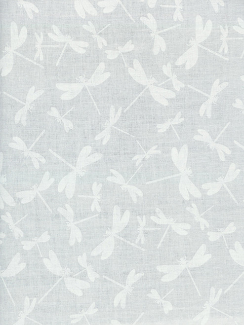Cotton Print Yarmulkes Dragonflies - WHITE