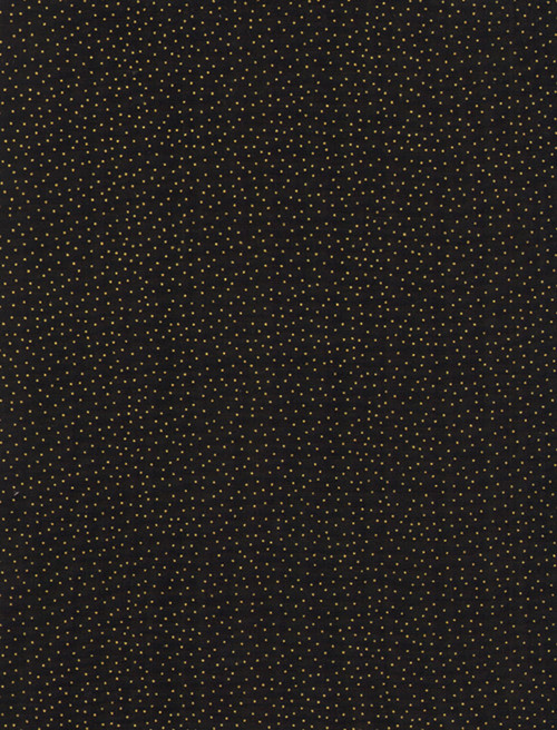 Cotton Print Yarmulkes Metallic Pin Dots - BLACK