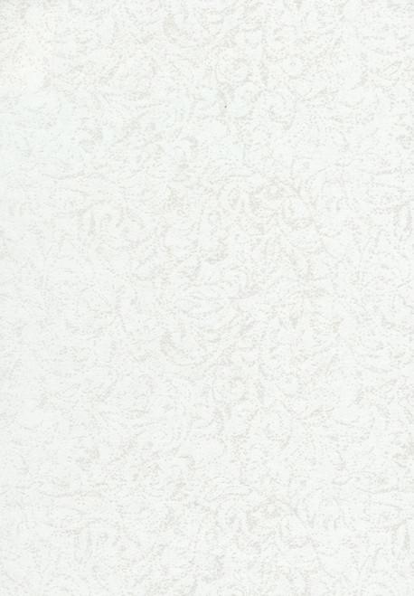 Cotton Print Yarmulkes Pearle Metallic - WHITE