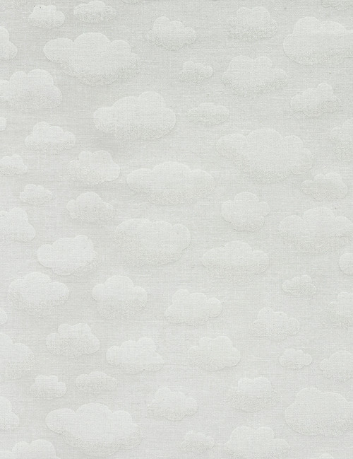 Cotton Print Yarmulkes Clouds - WHITE
