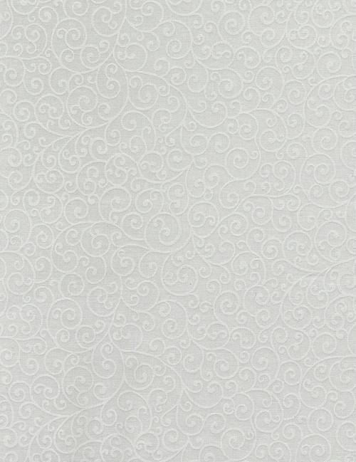 Cotton Print Yarmulkes Scroll - WHITE