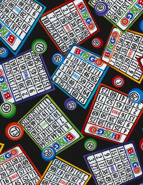 Cotton Print Yarmulkes Bingo - BINGO