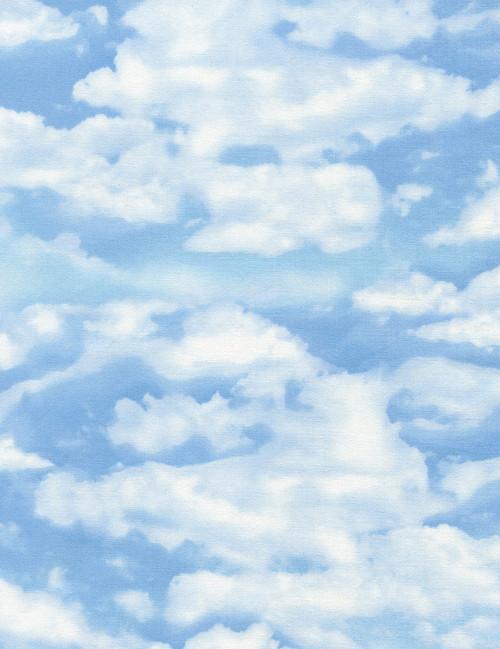 Cotton Print Yarmulkes Sky - SKY