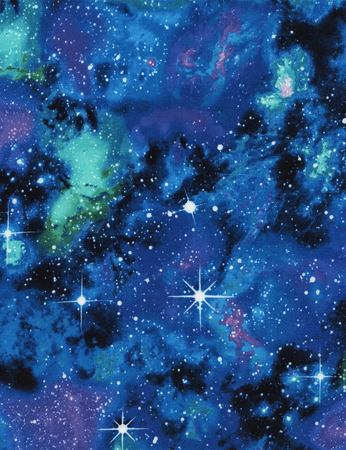 Cotton Print Yarmulkes Galaxy - Space