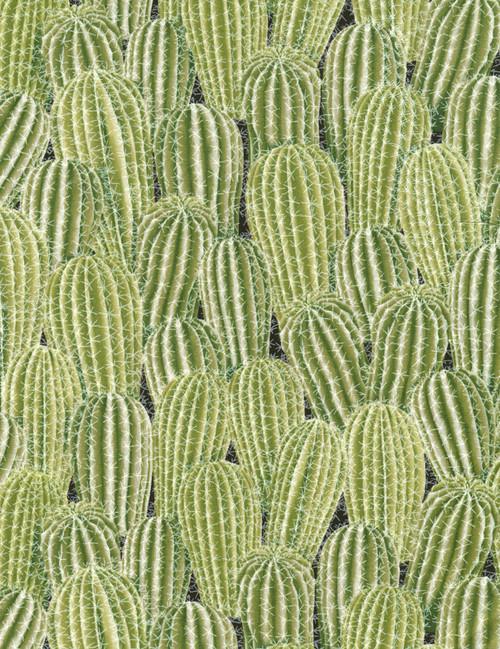 Cotton Print Yarmulkes Stacked Cactus - CACTUS