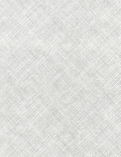 Cotton Print Yarmulkes Hatch Metallic - WHITE