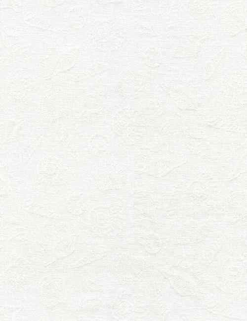 Cotton Print Yarmulkes White on White Shells - WHITE