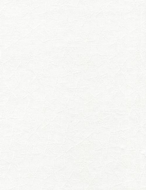 Cotton Print Yarmulkes White on White Starfish - WHITE