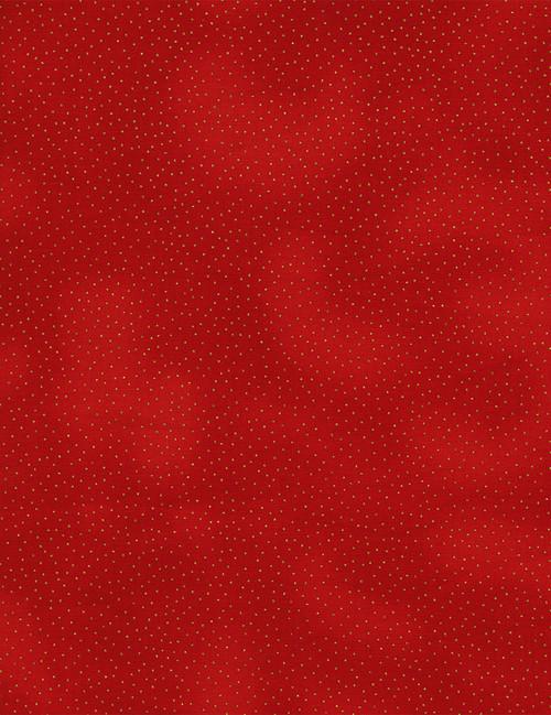 Cotton Print Yarmulkes Metallic Pin Dots - RED