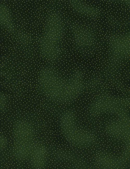 Cotton Print Yarmulkes Metallic Pin Dots - GREEN