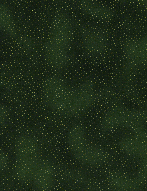 Cotton Print Yarmulkes Metallic Pin Dots - GREEN
