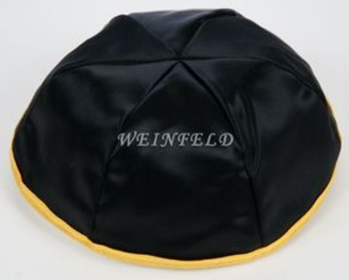 Satin Yarmulkes 6 Panels - Lined - With Rim - Choose Colors. Best Quality Bridal Satin