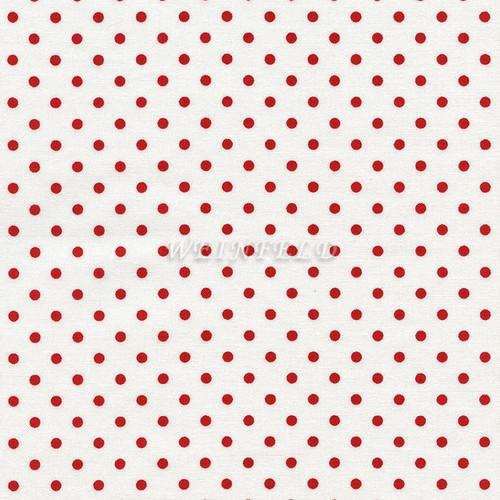 Cotton Print Yarmulkes Dot - Cherry