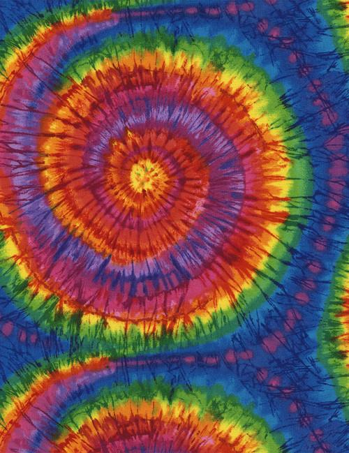 Cotton Print Yarmulkes Multi Tie-Dye - Multi