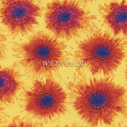 Cotton Print Yarmulkes Spaced Tie-Dye - Yellow