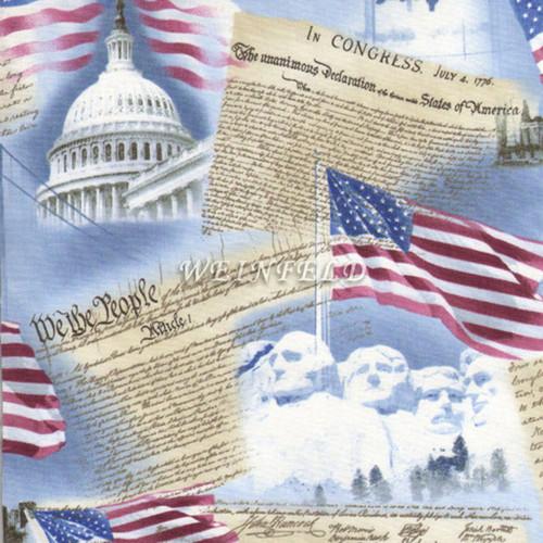 Cotton Print Yarmulkes Usa Patriotism - Sky