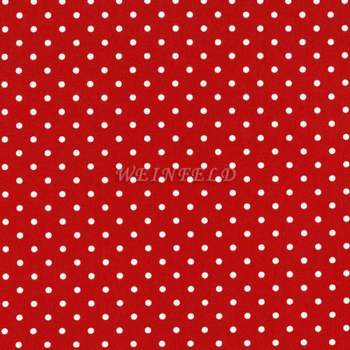 Cotton Print Yarmulkes Dot - Red