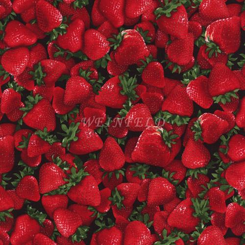 Cotton Print Yarmulkes Fruit - Strawberry