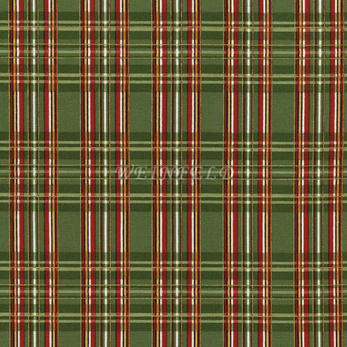 Cotton Print Yarmulkes Holiday - Green