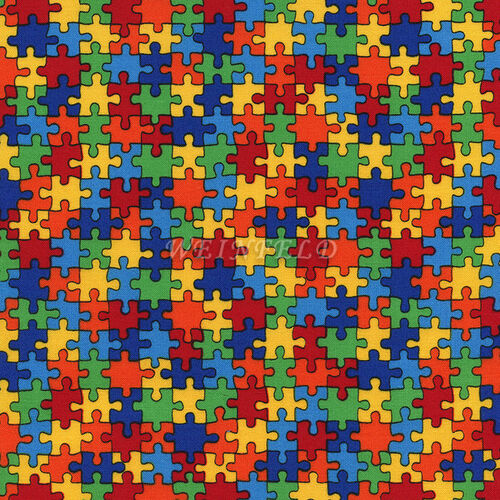 Cotton Print Yarmulkes Puzzle - Multi