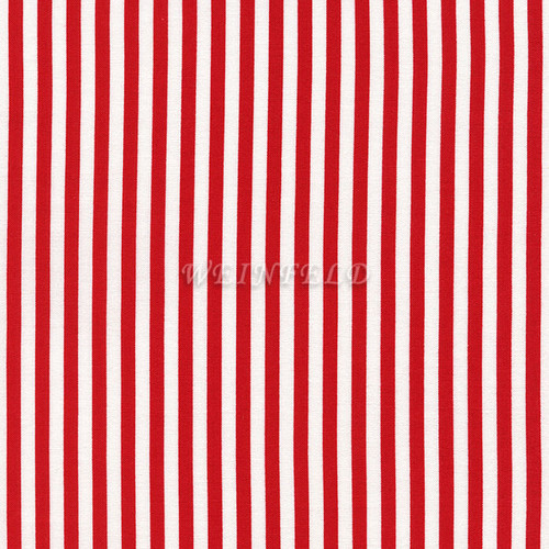 Cotton Print Yarmulkes Stripe Wide - Red