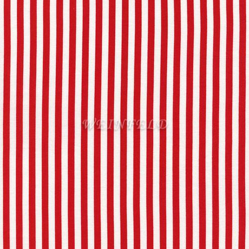 Cotton Print Yarmulkes Stripe Wide - Red