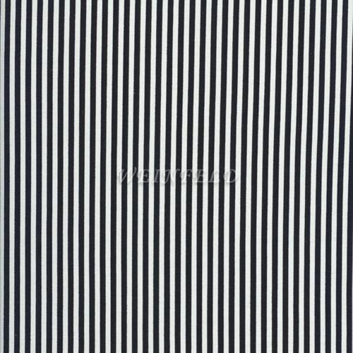 Cotton Print Yarmulkes Stripe - Black