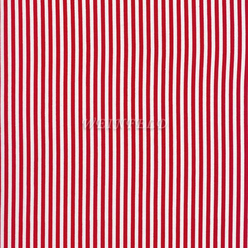 Cotton Print Yarmulkes Stripe Narrow - Red