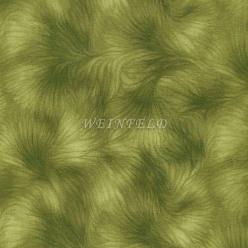 Cotton Print Yarmulkes - Metallic Green